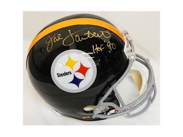 super popular 44c01 f19eb Jack Lambert Signed Steelers Throwback Full Size Replica Helmet with HOF 90  - Newegg.com