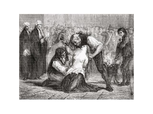 Posterazzi Dpi1858038large The Torture Of Madame De La Motte Jeanne De Saint Remy De Valois Comtesse De Poster Print Large 34 X 26 Newegg Com