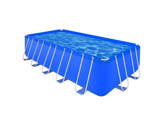 Online Gym Shop CB19069 Steel Rectangular Outdoor Above Ground Swimming  Pool - 17 ft. 9 in. x 8 ft. 10 in. x 4 ft. - Newegg.com