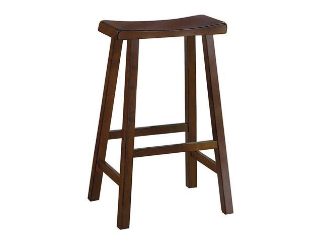 Super Benzara Bm175981 29 X 9 X 18 In 29 In Wooden Counter Height Stool With Saddle Seat Warm Cherry Brown Set Of 2 Machost Co Dining Chair Design Ideas Machostcouk