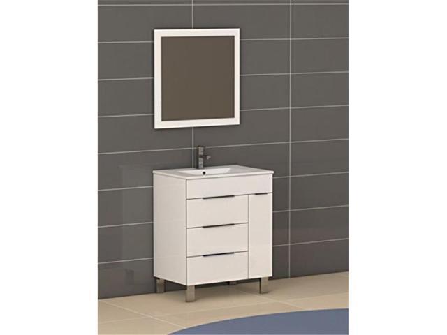 28 Inch White Modern Bathroom Vanity