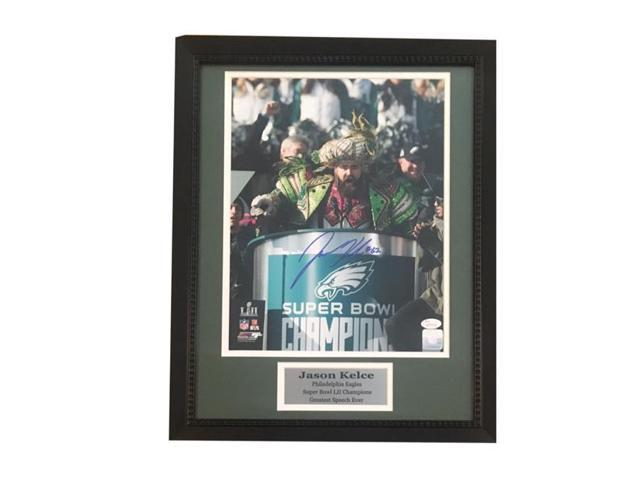 low priced 0dbc7 5271a Powers Collectibles 104007083 11 x 14 in. Jason Kelce Autographed  Philadelphia Eagles Super Bowl LII 52 Parade Speech Signed Photo JSA COA  Photo - ...
