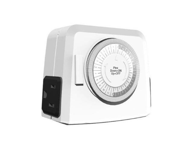 Westinghouse 2 Outlet Outdoor 24 hour Mechanical Timer Electrical ...