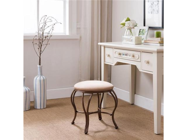 Stupendous Inroom Furniture Designs V1032 Vanity Stool Gold Brown 17 5 X 19 25 X 19 25 In Pdpeps Interior Chair Design Pdpepsorg