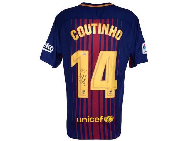 quality design 364b9 50259 Sports Integrity 23501 Philipe Coutinho Signed 2017-2018 Nike Barcelona  Soccer Jersey BAS - Newegg.com
