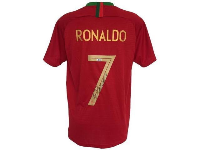 best service f39ce fb6d4 Sports Integrity 23628 Cristiano Ronaldo Signed 2017-2018 Nike Portugal  Soccer Jersey BAS - Newegg.com