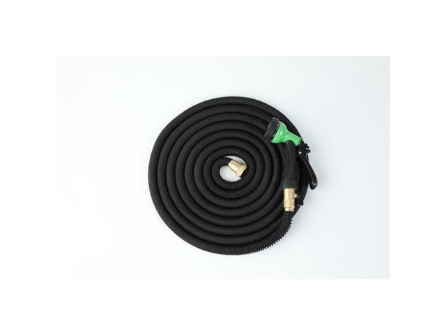 Winsome House WHGS438 75 ft  Black Expandable Water Hose with Water Spray  Nozzle Attachment - Newegg com