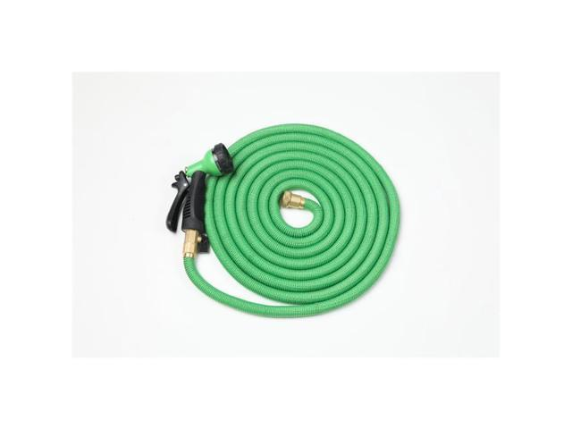 Winsome House WHGS435 50 ft  Green Expandable Water Hose with Water Spray  Nozzle Attachment - Newegg com
