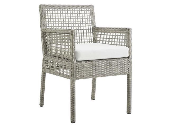 Modway Furniture Eei 2920 Gry Whi Aura Outdoor Patio Wicker