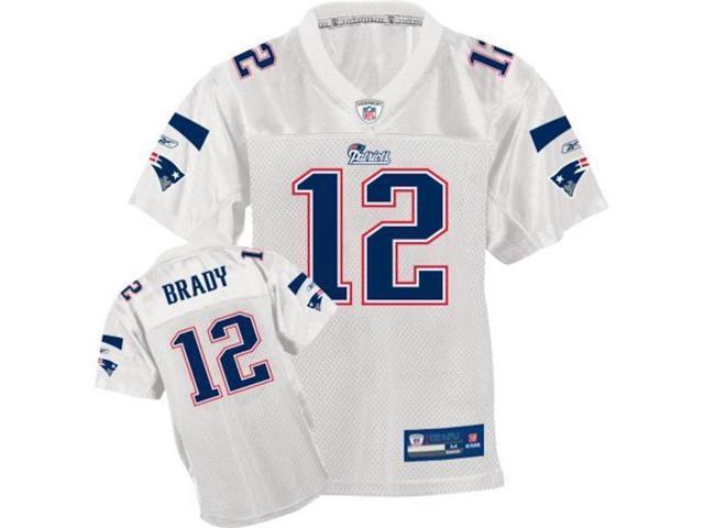 info for d90af 17c30 Steiner Sports BRADJEU000033 Tom Brady Nike Replica White Patriots Jersey -  Newegg.com