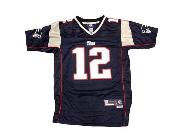 hot sales e5720 81d64 Steiner Sports BRADJEU000032 Tom Brady Nike Replica Navy Patriots Jersey -  Newegg.com