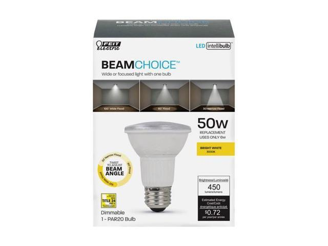 Feit Electric 3914983 6W Intellibulb Bright White BeamChoice PAR20 LED  Bulb, 450 Lumens - Pack of 4 - Newegg ca