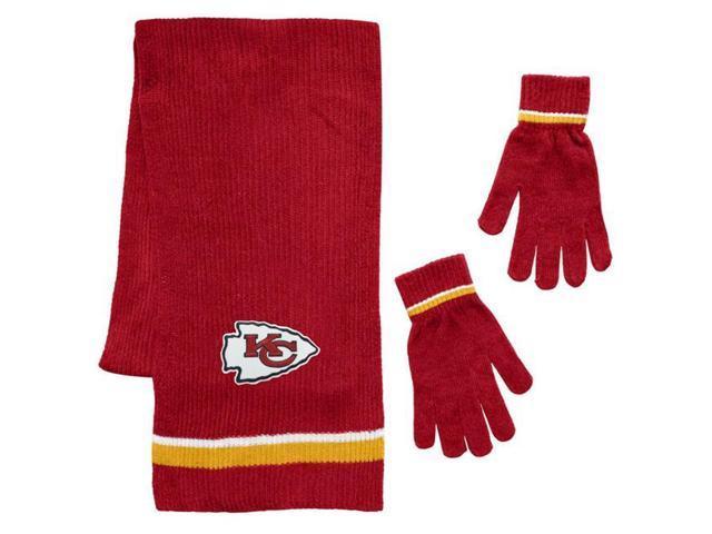 2e742685 Little Earth 8669933298 Kansas City Chiefs Chenille Scarf & Glove Gift Set  - Newegg.com