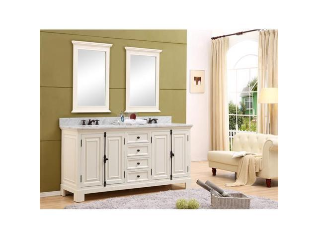 Water creation greenwich60awc 60 in the greenwich - Antique white double sink bathroom vanities ...