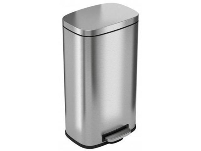 iTouchless PC30RSS 30 ltr SoftStep Stainless Steel Step Pedal Kitchen Trash  Can Perfect for Office, Home & Kitchen - 8 Gallon
