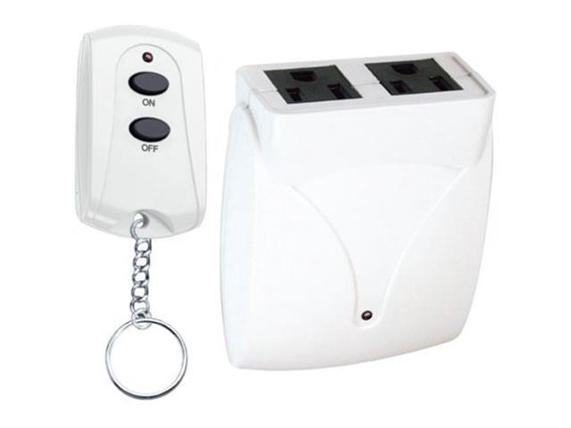 Prime Wire & Cable TNRC21 Indoor 2 Outlet Remote, White - Newegg com