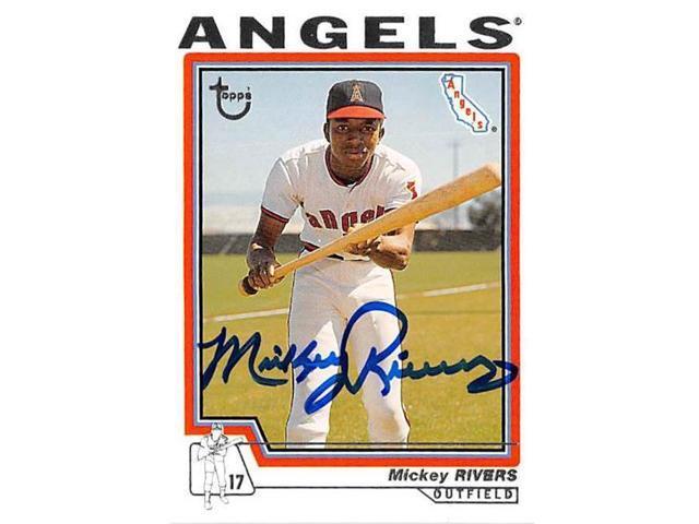 Autograph Warehouse 527392 Mickey Rivers Autographed Baseball Card California Angels 2004 Topps No64 Neweggcom