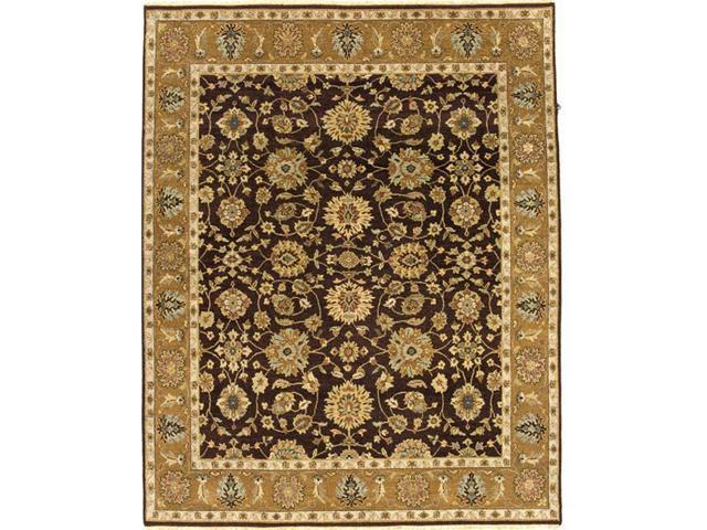 Due Process Stable Trading Mirzapur Agra Brown & Gold Area Rug, 12