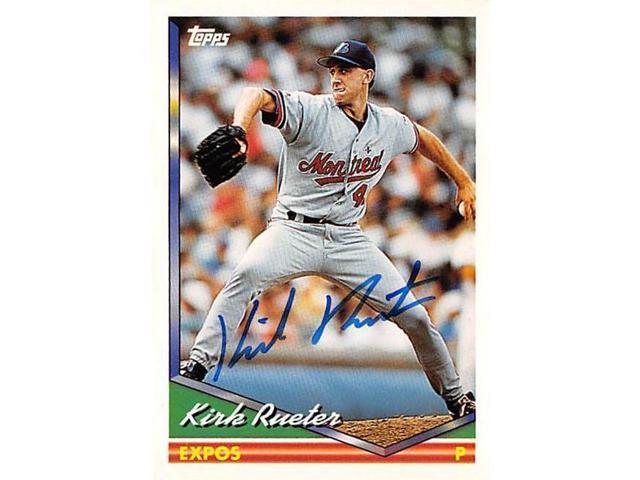 Autograph Warehouse 539115 Kirk Rueter Autographed Baseball Card Montreal Expos 1994 Topps No628 Neweggcom
