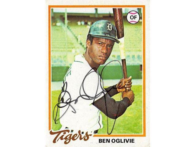 Autograph Warehouse 538967 Ben Oglivie Autographed Baseball Card Detroit Tigers 67 1978 Topps No286 Neweggcom