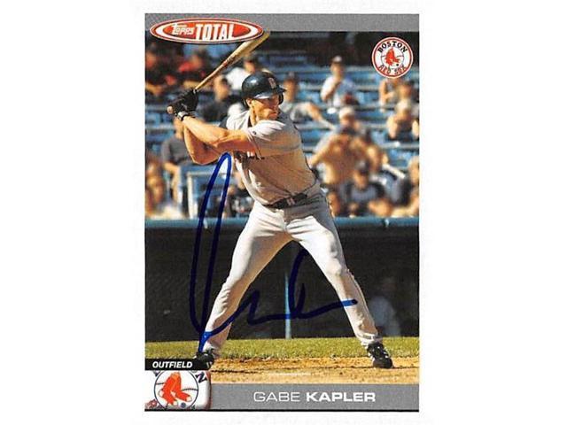 Autograph Warehouse 527372 Gabe Kapler Autographed Baseball Card Boston Red Sox 2004 Topps Total No129 Neweggcom