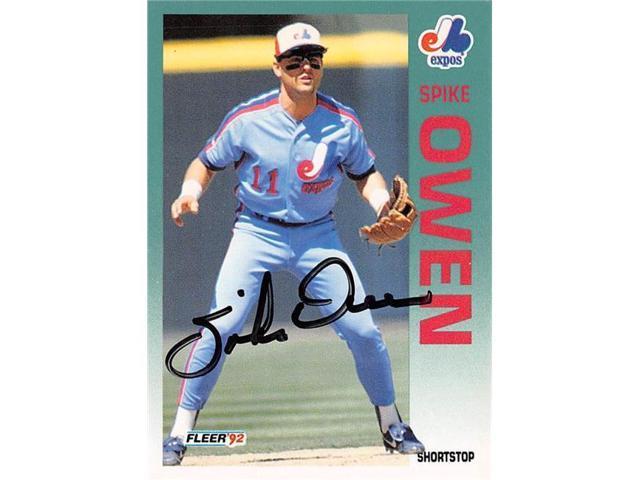 Autograph Warehouse 539126 Spike Owen Autographed Baseball Card Montreal Expos 67 1992 Fleer No488 Neweggcom
