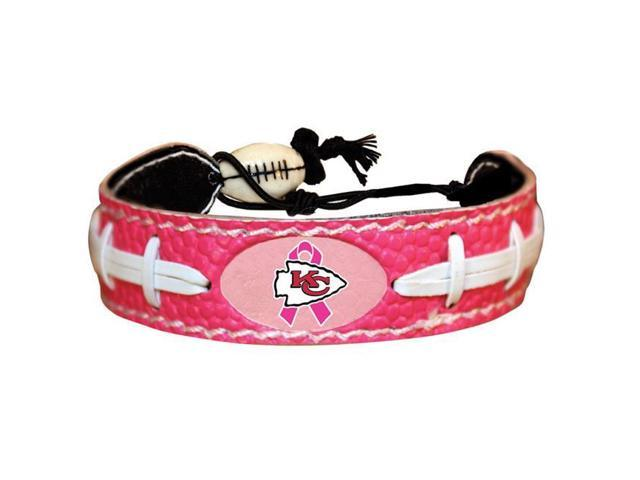 new style 29d41 41cf0 Gamewear 4421403358 Kansas City Chiefs Bracelet Pink Football Breast Cancer  Awareness Ribbon - Newegg.com