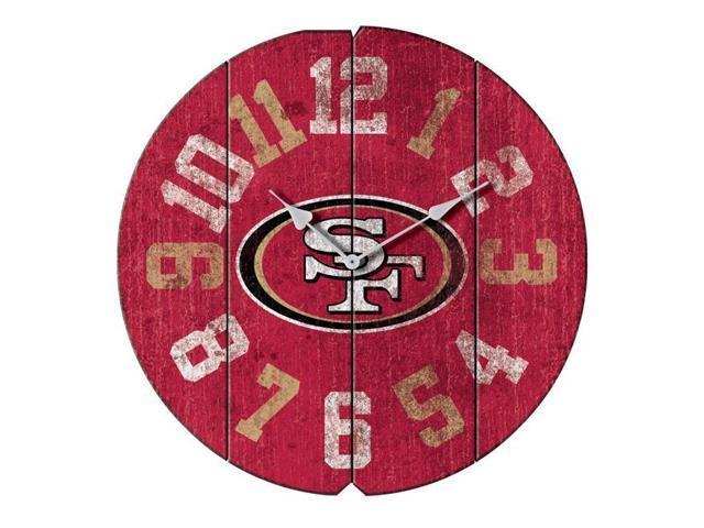 size 40 f2fc9 92561 Imperial Fan Shop 720801990057 San Francisco 49ers NFL Vintage Round Clock  - Newegg.com