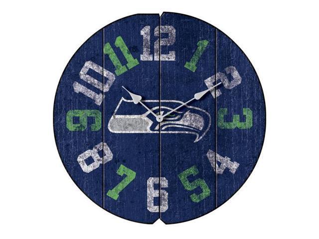best website bee6e 1e02e Imperial Fan Shop 720810010241 Seattle Seahawks NFL Vintage Round Clock -  Newegg.com