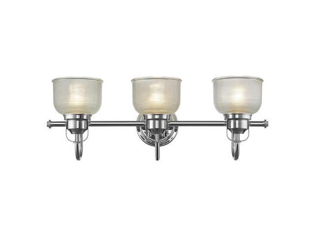 New 3 Light Bathroom Vanity Lighting Fixture Chrome: Chloe Lighting CH2D049CC25-BL3 Lucie Industrial-Style 3