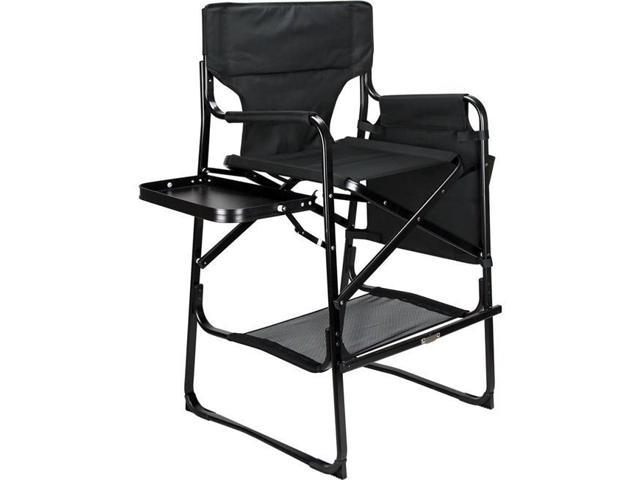 Phenomenal Ver Beauty Vch002 102 Black Tall Aluminum Director Chair With Table Tray Pockets Storage Newegg Com Pdpeps Interior Chair Design Pdpepsorg