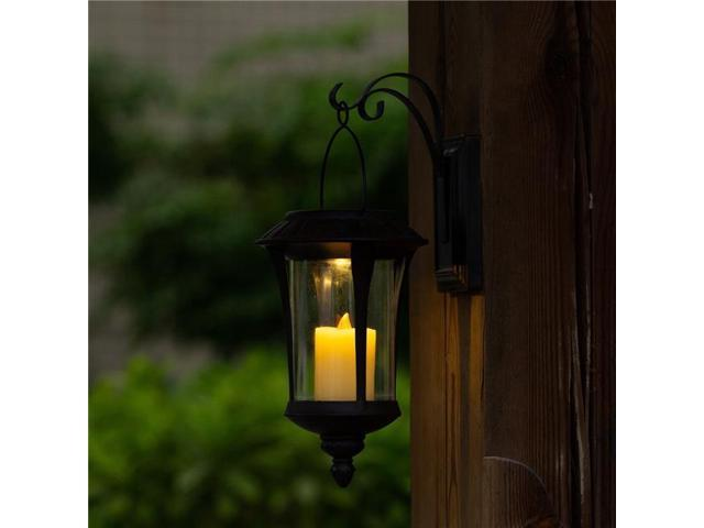 Winsome House Whsl546 Hanging Solar Light Lantern Wall Sconce