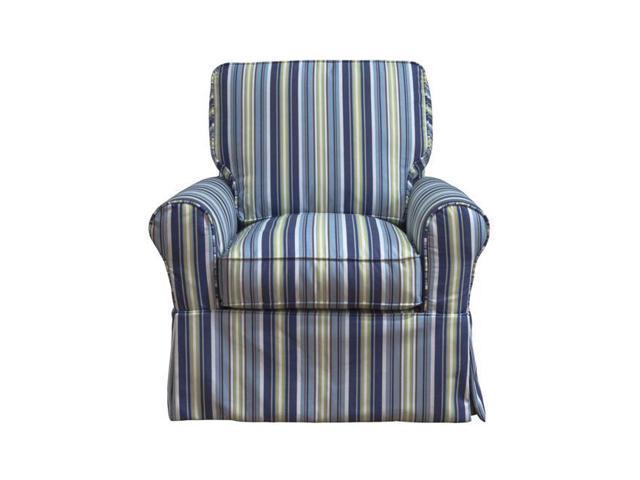 Sunset Trading Su 114993sc 395225 Horizon Box Cushion Chair Slipcover Blue Striped Newegg Com