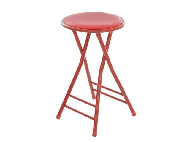 Trademark Global 82 0827r 24 X 14 5 In Home Collection Cushioned Folding Stool Red Newegg Com