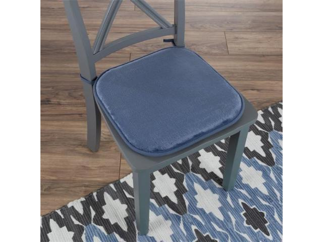 Wondrous Lavish Home 82 Tex1043Bl 16 X 16 25 In Square Memory Foam Chair Cushion Blue Newegg Com Gmtry Best Dining Table And Chair Ideas Images Gmtryco