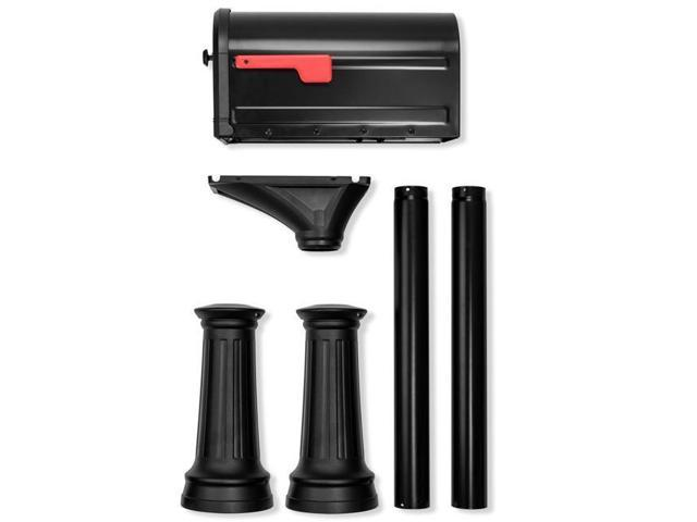 Architectural Mailboxes 7980B-10 Roxbury Post Mount Mailbox & Premium Steel  Combo - Black - Large - Newegg com