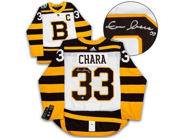 8d7f6db0 Autograph Authentic CHAZ10200E Boston Bruins Zdeno Chara Signed 2019 Winter  Classic Adidas Authentic Jersey