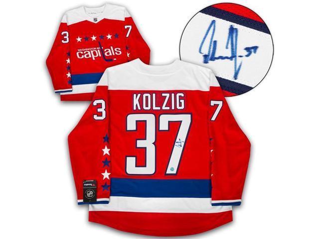 43c73d10 Autograph Authentic KOLO12700B Washington Capitals Olaf Kolzig Autographed  Retro Alt Fanatics Hockey Jersey