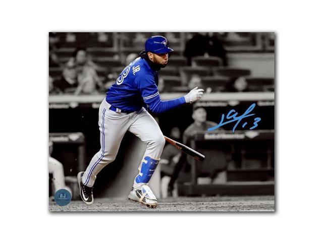 ab55c59ffe2b8a Autograph Authentic GURL32802B 8 x 10 in. Toronto Blue Jays Lourdes Gurriel  Jr Autographed 1st MLB Game Spotlight Photo