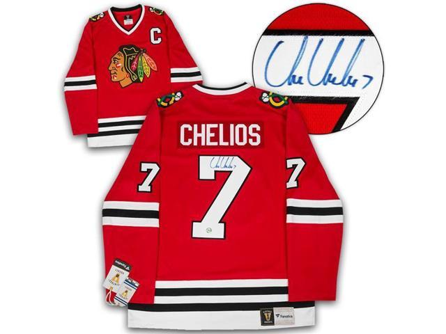 timeless design b5eb0 73a94 Autograph Authentic CHEC10100B Chicago Blackhawks Chris Chelios Autographed  Retro Fanatics Hockey Jersey - Newegg.com