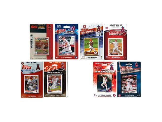 C I Collectables Angels818ts 2018 Mlb Los Angeles Angels 8 Different Licensed Trading Card Team Sets Neweggcom