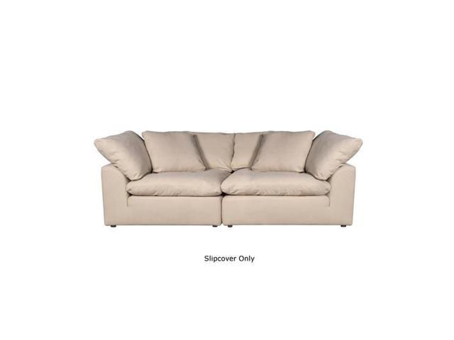 Stupendous Sunset Trading Su 1458Sc 84 2C Cloud Puff Modular Large Loveseat Slipcover Configurable Sofa Furniture Cover Performance Fabric Tan 2 Piece Short Links Chair Design For Home Short Linksinfo