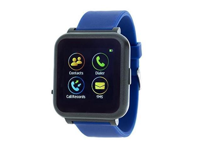 RBX Active RBXTR011BL Digital Smart Watch with Square Dial & Rubber Strap,  Blue - Newegg com