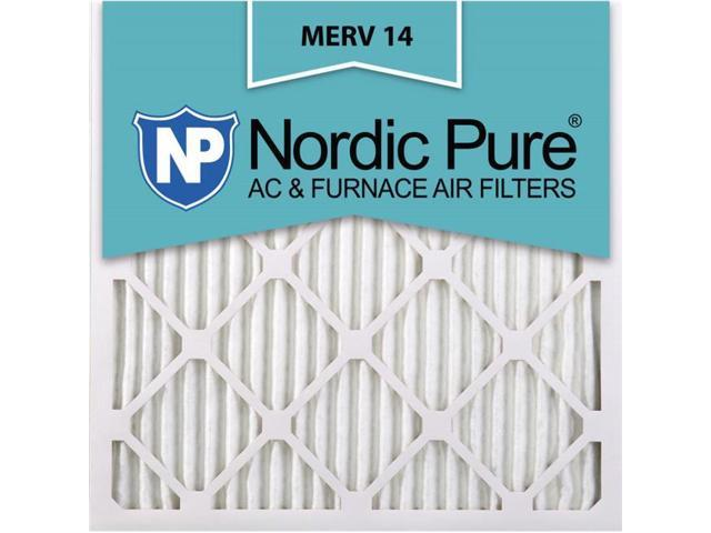 Nordic Pure 24x24x1 MERV 14 Pleated AC Furnace Air Filters 24x24x1M14-6 6 Pack