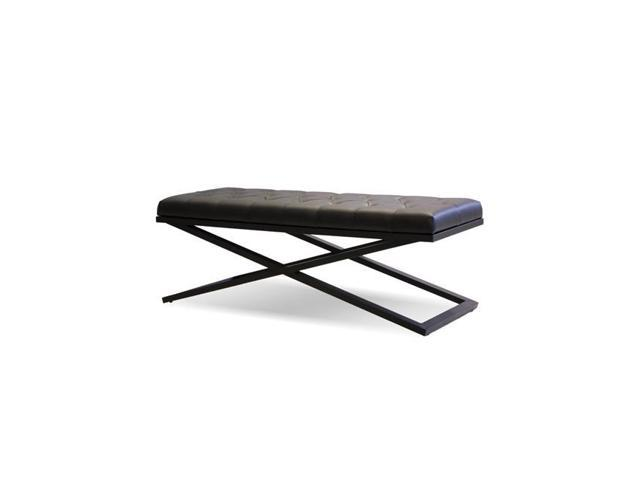 Awe Inspiring Mobital Dbecrosbllelabpc Crosstown Black Leatherette Power Coated Matte Black Faux Leather Large Bench 48 X 19 X 17 In Newegg Com Beatyapartments Chair Design Images Beatyapartmentscom