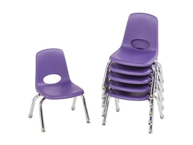 Classroom Daycare School 10 Kids Stack Chair Swivel Glide 6 Pack