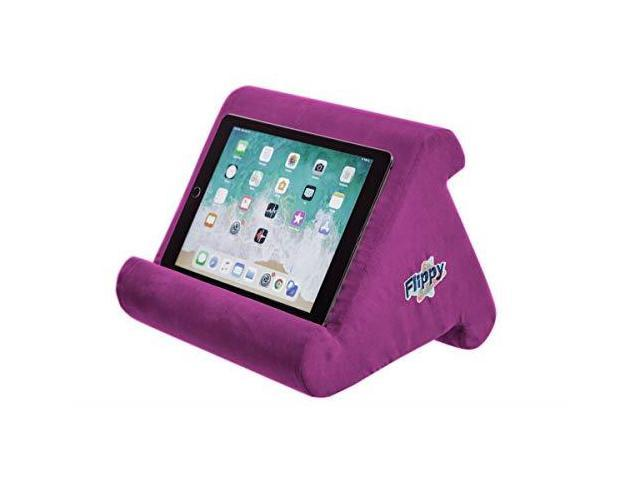 362b3fcd2d55 Flippy MultiAngle Soft Pillow Lap Stand for iPads Tablets eReaders  Smartphones Books Magazines Burgundy - Newegg.com