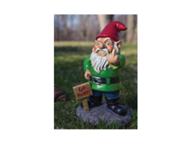 Mouth Bmga0006 Go Away Garden Gnome