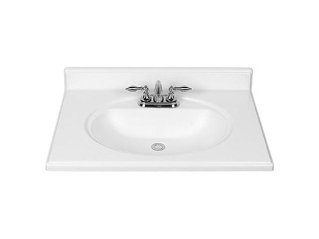 Rsi Home Products S Dp225 3cb 25 In Premium Cultured Marble Vanity Top Newegg