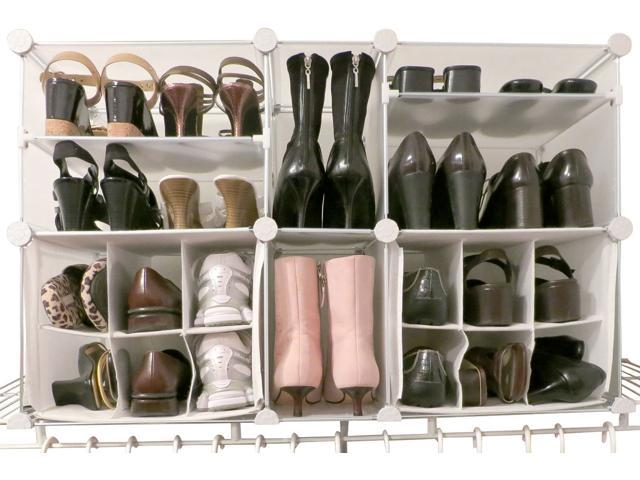 Luxury Living Modular Shoe Storage Organizer With Panels Fit Up To 22 Pairs Of Shoes